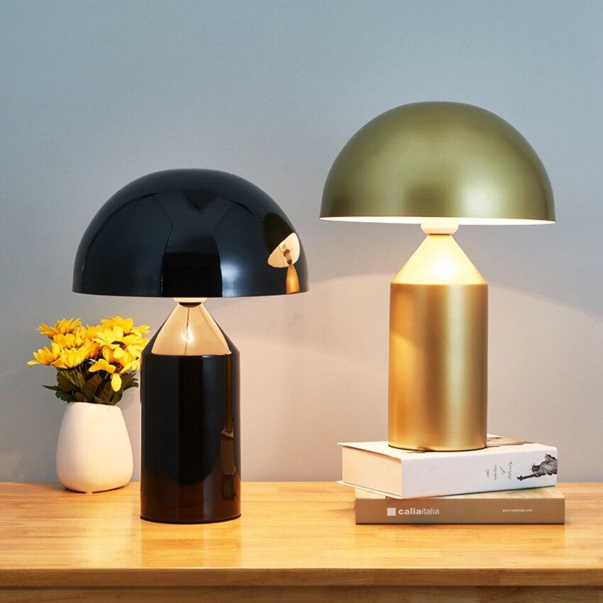 Современный дизайн гриб черный светодиодный Настольный Светильник Освещение Гостиная Спальня Кабинет прикроватный Настольный светильник - 2