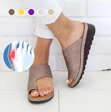 Dog Women PU Leather Shoes Comfy Platform Flat Sole Ladies Casual Soft Big Toe Foot Correction Sandal Bunion dropship MA3