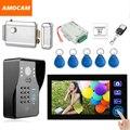 7 Дюймов Беспроводной Видео Домофонные Дверной звонок домофон с Электронным Замком пароль/ID Card/Remote/Выхода Разблокировки