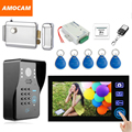 7 Inch Wireless Video Door Phone Doorbell Intercom with Electronic Lock password/ ID Card /Remote/ Exit Unlock