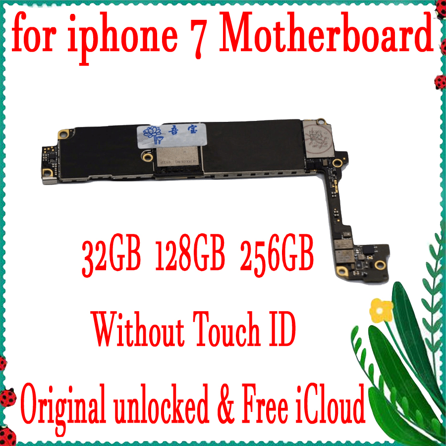 Factory unlocked for iPhone 7 Motherboard No / Without Touch ID,Original for iphone 7 Mainboard with Chips,32GB 128GB 256GBFactory unlocked for iPhone 7 Motherboard No / Without Touch ID,Original for iphone 7 Mainboard with Chips,32GB 128GB 256GB