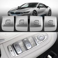 4Pcs Auto Master Sitz Fenster Control Schalter Reparatur Taste Caps für Mercedes Benz C-klasse W205 Chassis GLC volle Serie W253 2015-