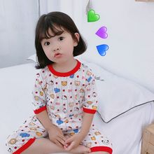 Baby Girls Sleepwear Pyjama Pajamas Set Boy Nightgown Cotton 2019 Summer Toddler Carton Printing Clothe