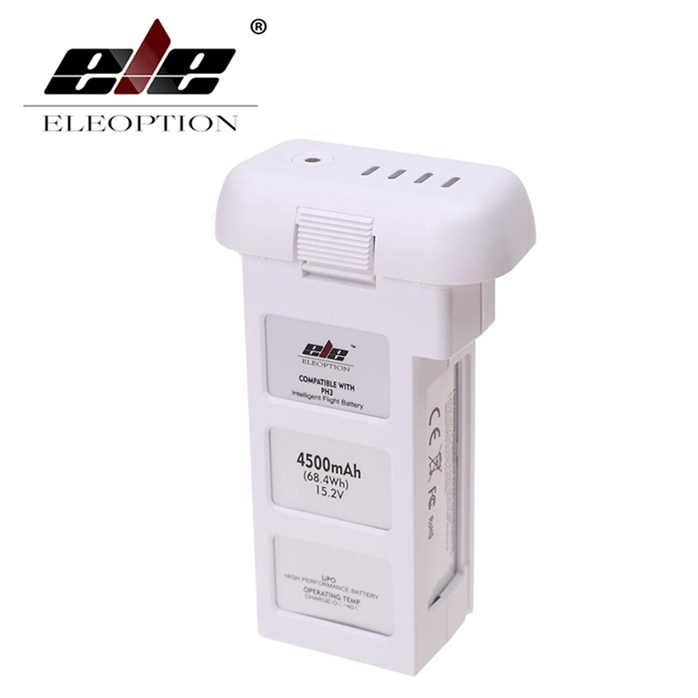 ELEOPTION 15.2V 4500mAh 4S Intelligent Flight Battery For DJI Phantom 3 & Phantom 3 Standard аккумулятор dji battery lipo 15 2v 4480 mah 4s for phantom 3