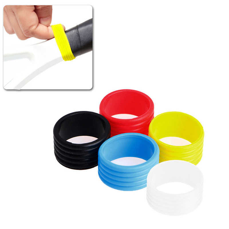2pcs Tennis Racket Handle Silicone Ring Tennis Grip Elastic Protector Overgrip Fix Ring Absorbing Stretchy Tennis Racket Grip