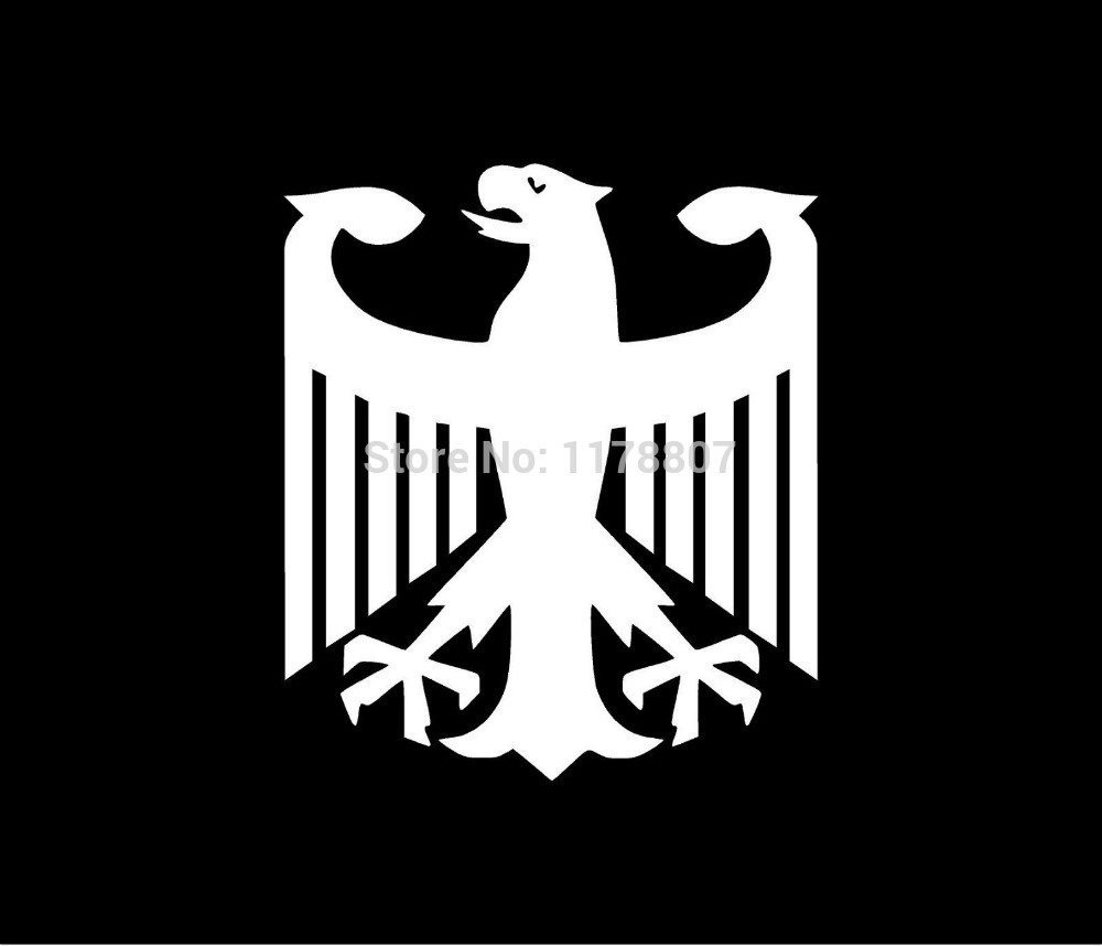 50 pcs/lot German Eagle Sticker For Car Rear Windshield Truck Bumper Auto Door Laptop Art Wall Die Cut Vinyl Decal 8 Colors
