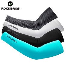 ROCKBROS Ice Fabric Breathable UV Protection Running Arm Sleeves Fitness Basketball Elbow Pad Sport Cycling Outdoor Arm Warmers(China)