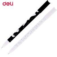 Deli Gel Ink Pen 1 Pcs Cute Kawaii 0 5mm Rollerball Black Ink Gel Ink Pens