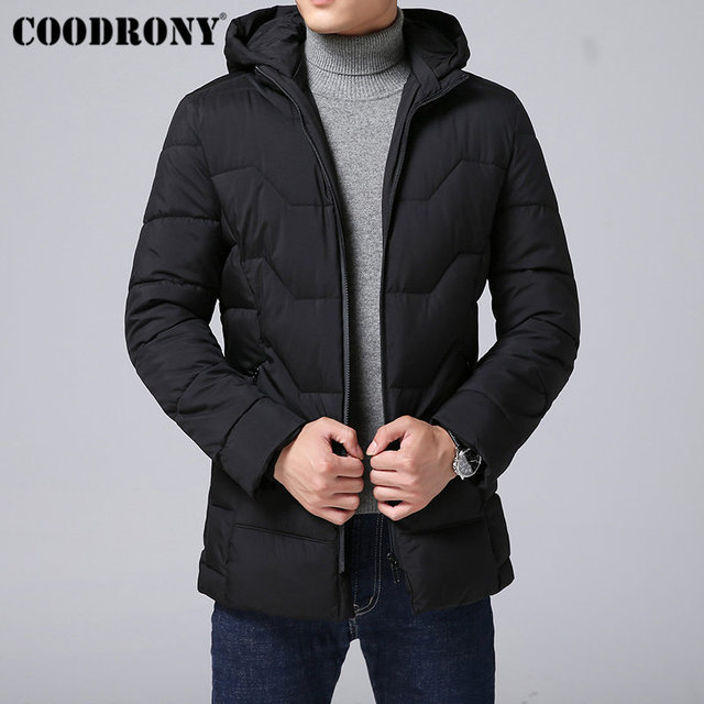 Get Discount Price COODRONY Winter Jacket Men Thick Warm Parka Men Clothes 2018 New Winter Coat Men Casual Hooded Jackets And Coats Plus Size C006