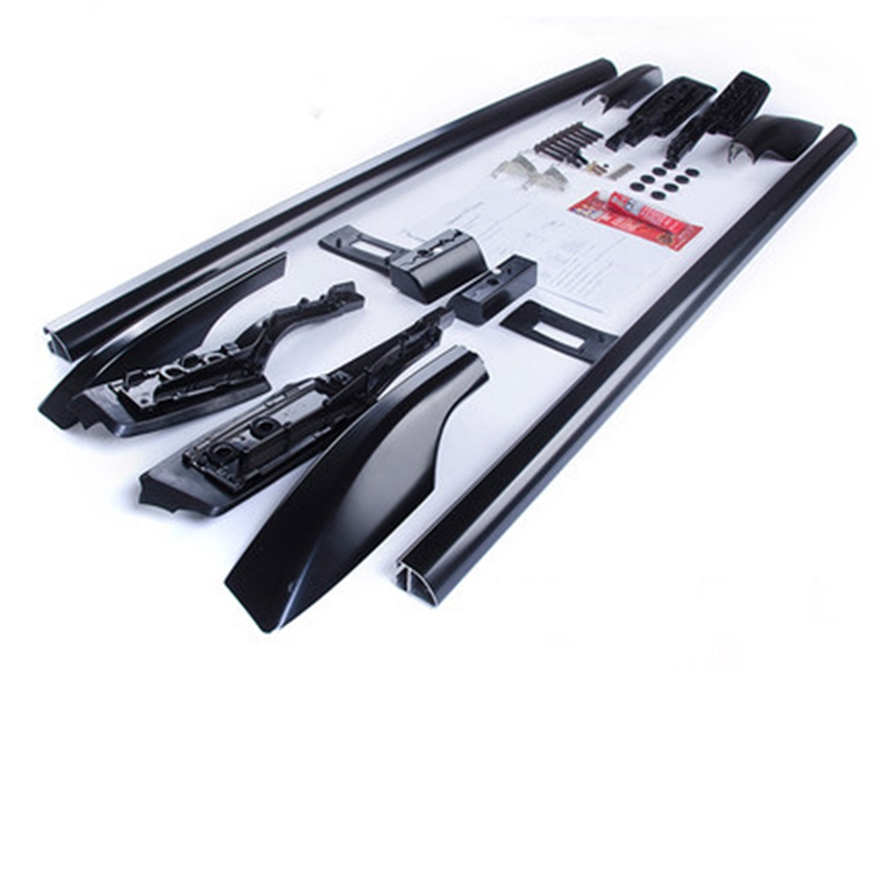 Car Styling For Toyota Land Cruiser LC200 2008-2016 Aluminium Alloy Carrier Bar Roof Rack Side Rails Bars Outdoor Travel Luggage exterior car styling metal silver luggage carrier roof rack rails bar trim for toyota land cruiser prado j150 2010 2018