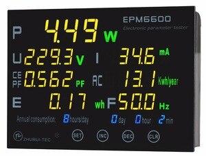 EPM6600 10A/2000W digital AC energy meter/ power meter /measurement of the electric /Frequency / kwh meter|energy meter|ac energy meterpower meter -