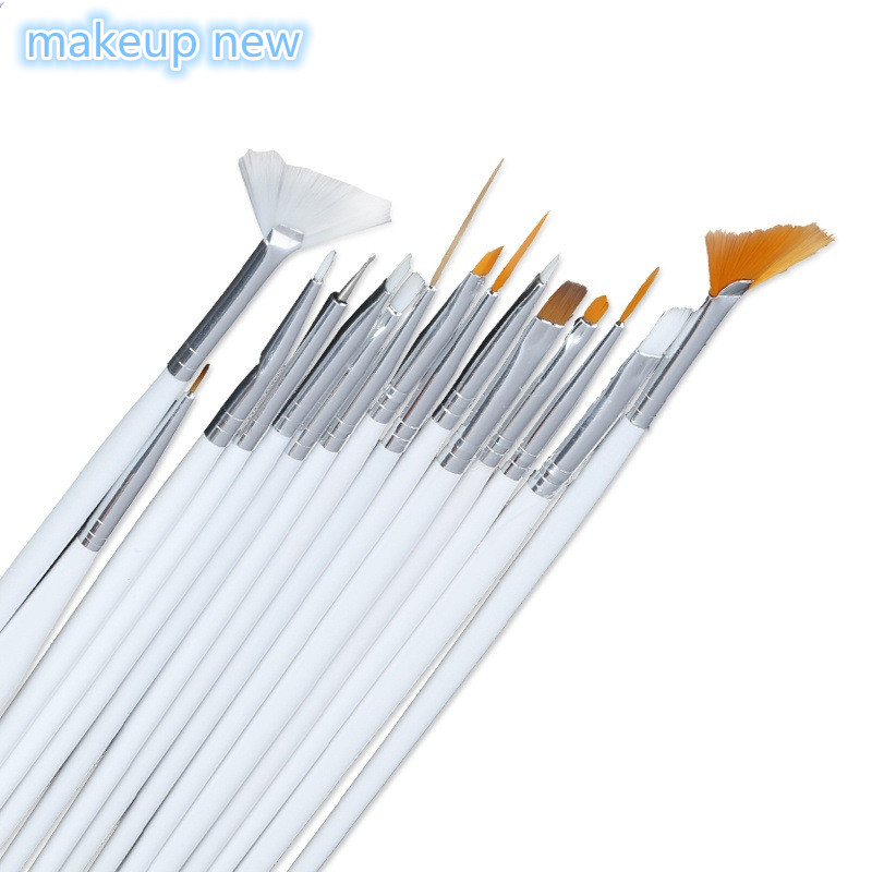 15pcs lot nail art decorations brush set tools for Avon nail decoration brush