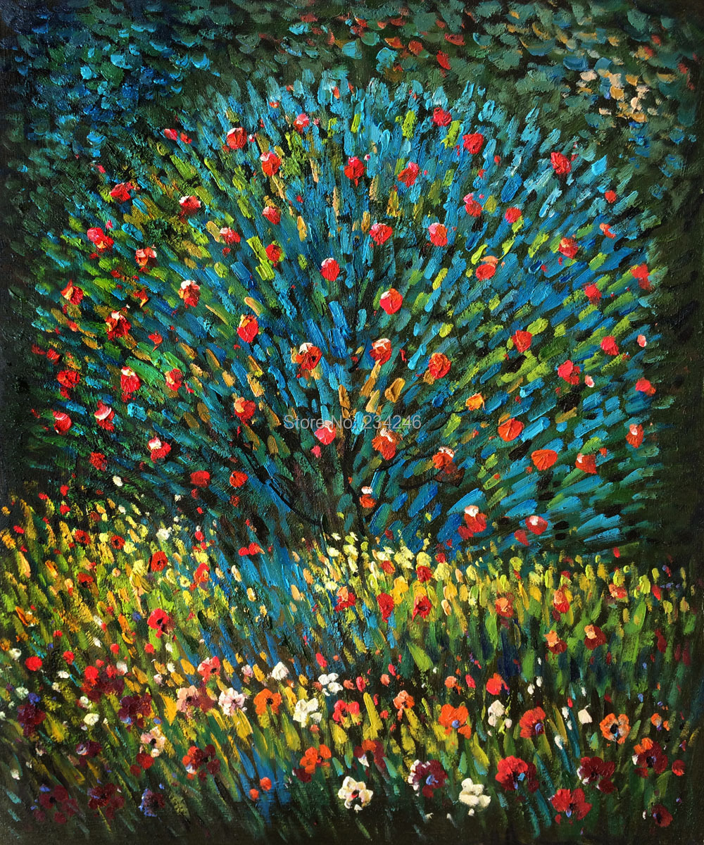 Us 99 89 10 Off 100 Hand Painted Canvas Oil Paintings Gustav Klimt Apple Tree I Still Life Painting Reproductions For Living Room Wall In Painting