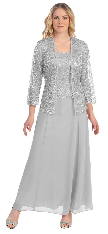 Hote Sale Fashion 3 4 Sleeve Floor Length Chiffon Lace