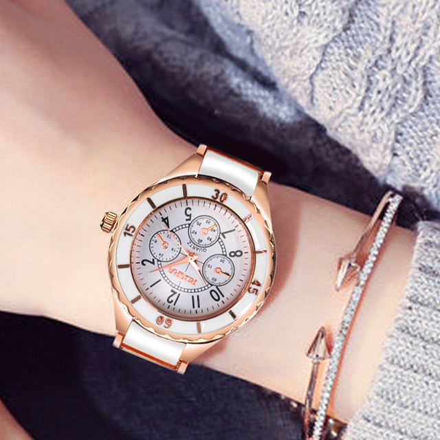 2018 Fashion Women Watches Personality Romantic Rose Gold Wrist Watch Stainless Steel Ladies Clock montre femme reloj mujer 5