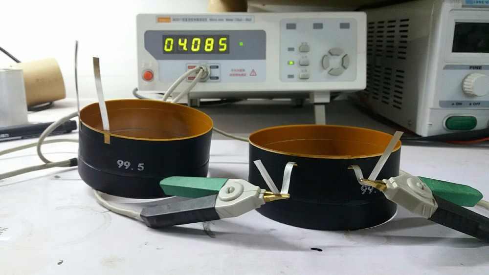1 pièces d'identité: fil d'aluminium plat 99.5mm 4 ohms peavey noir veuve woofer haut-parleur de grave haut-parleur bobine vocale