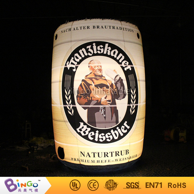 Free Shipping Oktoberfest Events 11.5ft LED glow in the dark inflatable lighting can model for Toys