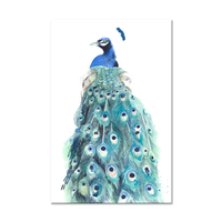 Classical Design Canvas Paintings Beautiful Peacock Standing Printed On Canvas Picture Wall Art Paintings For Living Room Decor
