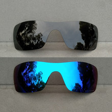 f366e9413089e Negro y azul de hielo espejo polarizado lentes de reemplazo para-Batwolf  marco 100% UVA y UVB Anti-rasguño Anti -reflectante