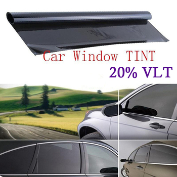 Glass Tint Film Window VLT 20% Anti UV Privacy Sticker Roll Dark Uncut Sunshade Black image