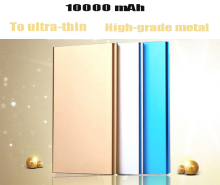 New 10000 mA Universal USB Mobile Power Ultra Thin Portable Polymer Charger for Phone