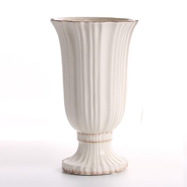 Simple Modern Ceramic Vase Milk Jug Home Furnishing Living Room Tv