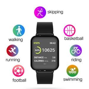 Image 4 - Смарт Браслет фитнес часы умный Браслет кровяное давление измерение сердечного ритма Водонепроницаемая повязка на руку большой цветной сенсорный