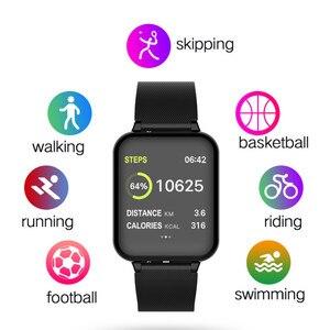 Image 4 - Smart armband fitness aktivität uhr smart armband blutdruck herz rate messung wasserdicht armband big farbe touch