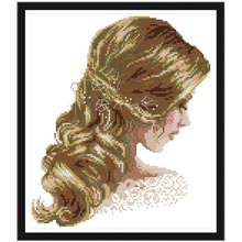 Beautiful hair painting counted DMC 11CT 14CT DIY kit Chinese wholesale Cross Stitch embroidery needlework Sets home decor(China)
