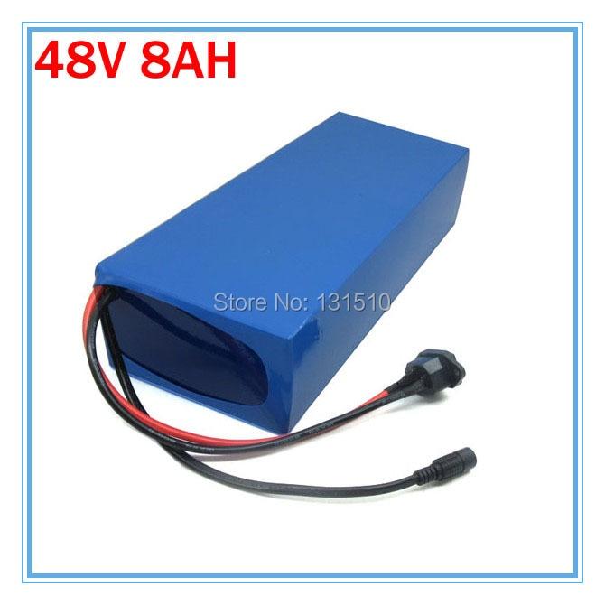 Droit de douane gratuit 48V 13S 500W lithium ion batterie 48V 8AH Ebike Scooter batterie avec étui en PVC 54.6V 2A chargeur