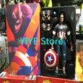 1pcs/set Captain America Avengers Action Figures Change Hand Hot Toys Super Hero Marvel Iron Man Marvel's 12'' Model Toys Gifts