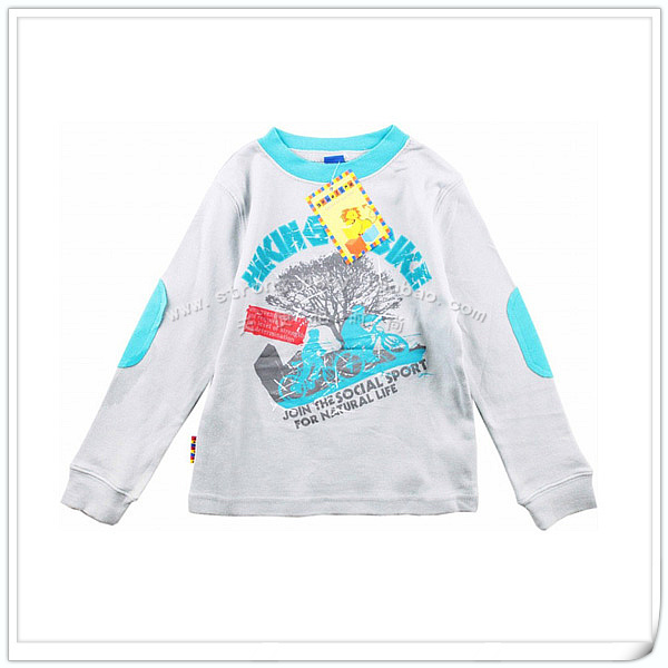 Children's clothing 100% cotton child long-sleeve t shirts spring and autumn male child baby 100% cotton sweatshirt