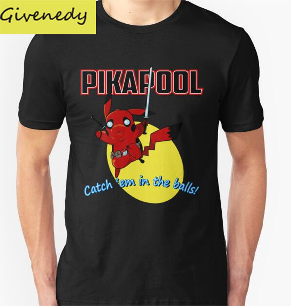 Free shipping Pikapool printed Men s T shirt cartoon design fashion Top Tee t shirt 100