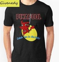 Бесплатная доставка Pikapool печатных мужская футболка мультфильм дизайн мода Топ Ти футболка 100% хлопок O-образным Вырезом одежда T рубашки