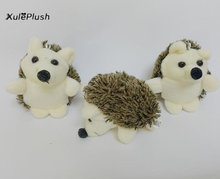 Size 8CM Height , Kawaii Hedgehog Animal Plush Stuffed Toy Dolls , key chain ring pendant GIFT Plush TOY DOLL(China)