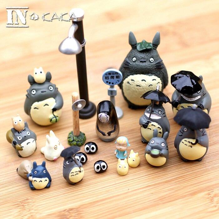 Anime filme meu vizinho totoro mononoke figuras de ação brinquedos fadas jardim decoração em miniatura estatuetas terrário estátuas ornamentos