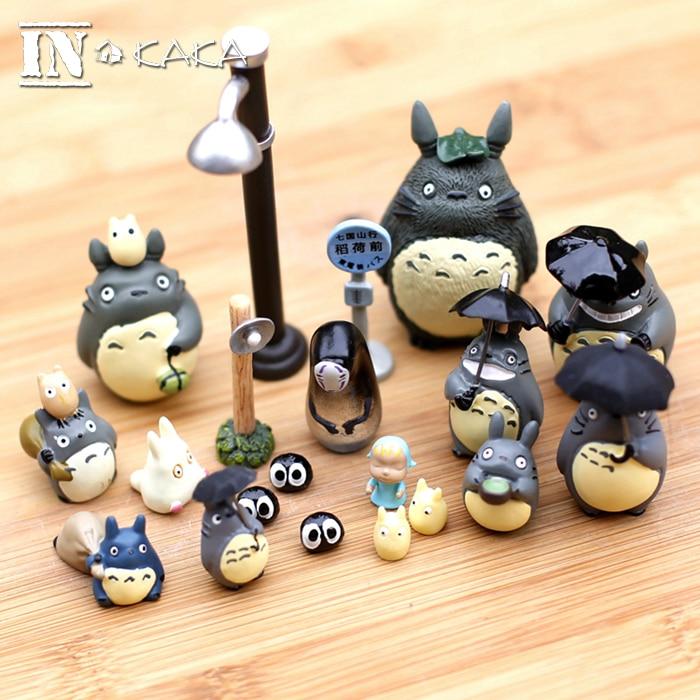 Аниме «Мой сосед Тоторо» Мононоке экшен-фигурки игрушки Сказочный Сад, миниатюра фигурки Декор Террариум статуи животных украшения