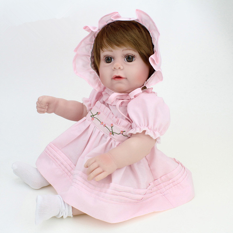 Lifelike 40cm Silicone Reborn Baby Doll Toys for Girl, Reborn Babies Play House Toy Kids Child Birthday Gift Girl Juguetes high end soft vinyl reborn doll 55cm reborn baby toys kids birthday gifts play house diy for child juguetes