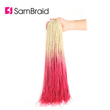SAMBRAID Senegalese Twist Hair Crochet Braids Synthetic Brai