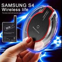Qi cargador inalámbrico carga pad + receptor de carga inalámbrico etiqueta carga inalámbrica para Samsung Galaxy S4 i9500 alta calidad