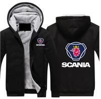 Fashion men's scania hoodie padded jacket hooded sports zipper scania truck captain locomotive off road motorcycle jacket