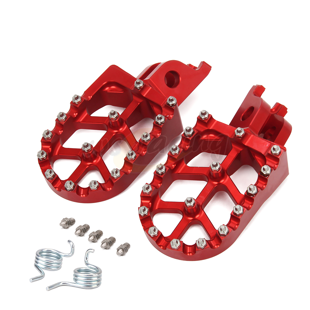 Motorcycle Aluminum FootRest pegs Pedals For CR125 CR250R CRF150R CRF250R CRF250X CRF450R CRF450RX CRF450X CRF250L CRF250M RALLY