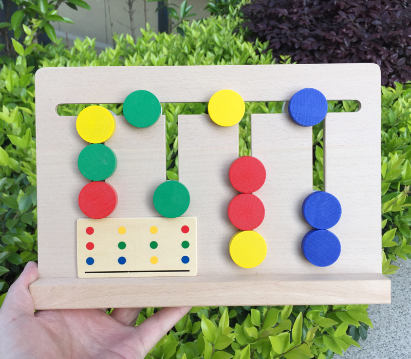 MamimamiHome Kids Wooden Toys Child Montessori Early Childhood Education Toys Logical Thinking Training Game Building Blocks