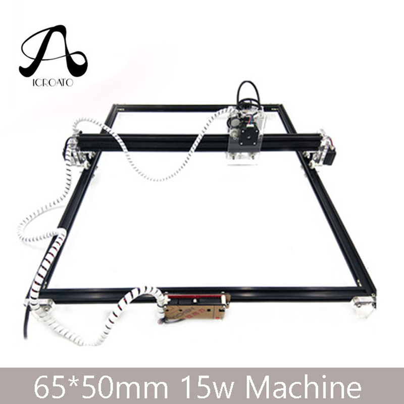 Free Shipping 15W Laser Machine 65*50 CNC Machining Laser Engraving Machine, DIY Laser Cutting Machine,Wood CNC Router 6040 cnc laser engraving and cutting machine