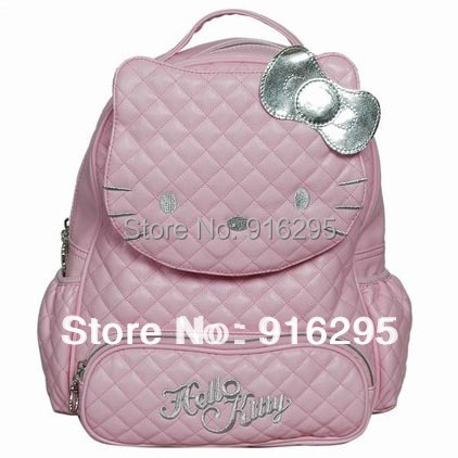 hello kitty Children school bags Shoulder bag backpack Cute Hello Kitty Quilted Face Bag black 8820 BKT118 - time tree store