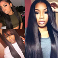 16inch 150density silk top glueless full lace wig with baby hair,right part
