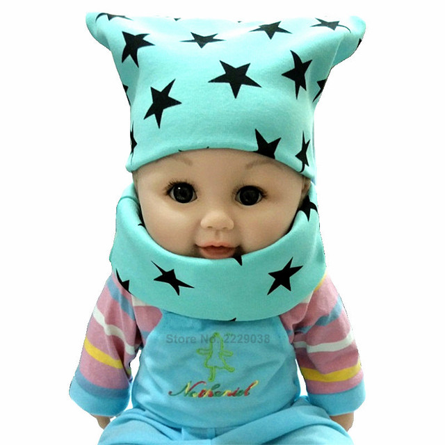 New Fashion Autumn Winter Crochet Boys Cap Scarf Baby Hat Girls Hat and Scarf Children Beanies Cap Cotton Kids Hat