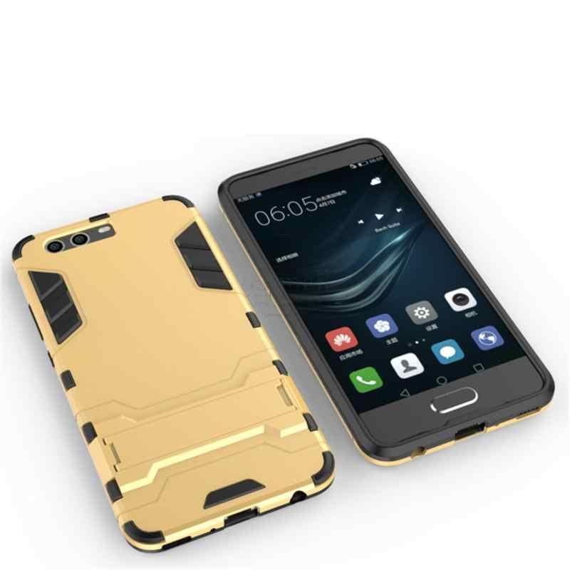 Doble capa híbrido duro Armor para Huawei P10 caso Fundas PC + TPU Kick Stand para Huawei P10 bolsas de teléfono móvil Plus