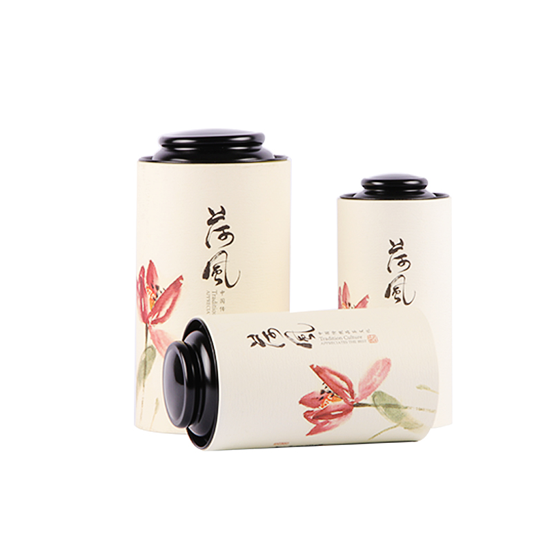 Xin Jia Yi Packaging Paper Box 2018 Fahsion Round Paper Tea Gift Paper Tube Metal Lid China Style Hot Sale Paper Boxes