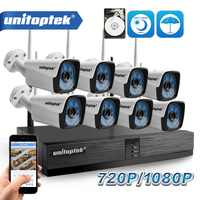 4CH 8CH 1080P Wireless NVR Kit Home Security Camera System 1.0MP 2MP HD Video Surveillance CCTV System Wifi Outdoor Camera NVR